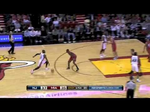Miami Heat vs New Jersey Nets (101-89) November 6, 2010