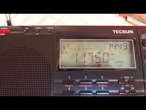 Tecsun PL 660 - Radio SRI LANKA BC 11750 khz em 25 metros (Ondas curtas)