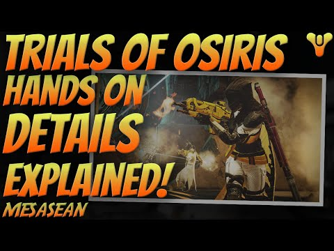 Destiny Trials of Osiris Game Play. Fine Details Explained. Passages, wins, losses, gear, etc.