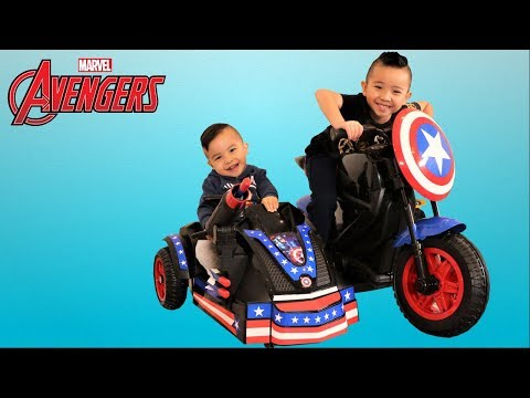 Avengers Captain America Mortocycle 12V Ride On Car Kids Park Playtime Fun With CKN Toys