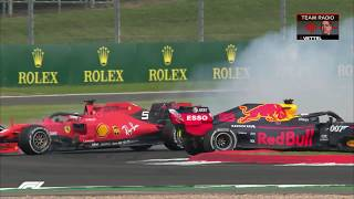 Vettel Collides With Verstappen At Silverstone | 2019 British Grand Prix