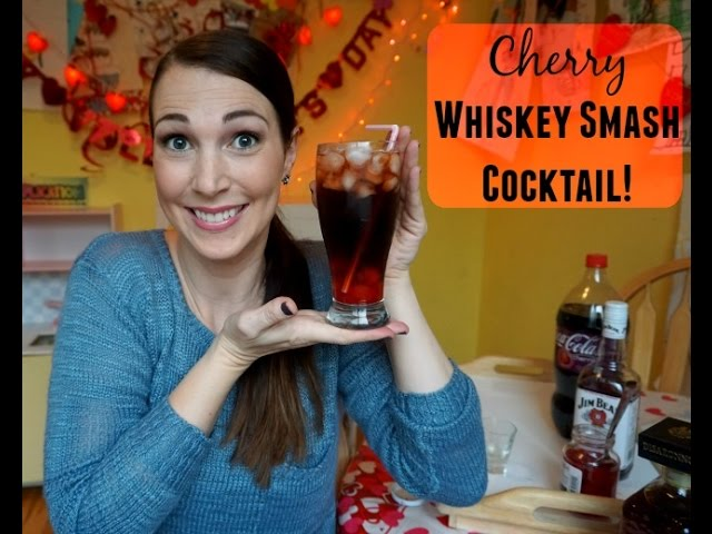 Cherry Whiskey Smash Cocktail | Pinterest Drink #36 | MamaKatTV