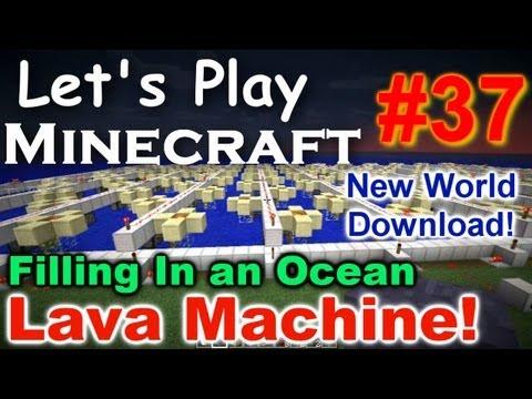 Let's Play Minecraft Survival (Part 37) - Lava Machine