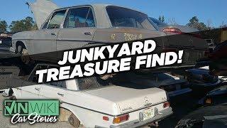We found hidden treasure in a junkyard Benz