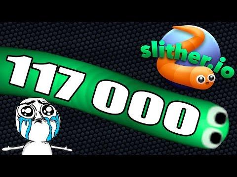 Slither.io | НОВЫЙ РЕКОРД +117 000 | ОСТОРОЖНО МАТ 18+