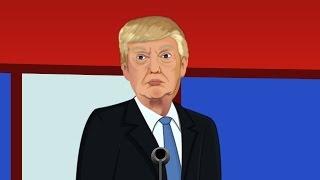 Donald Trump Hillary Clinton Toon Debate