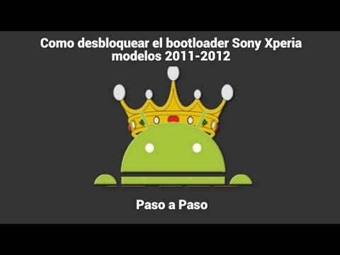 Como desbloquear el BOOTLOADER Sony Xperia modelos 2011-2012
