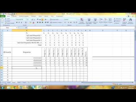 Tabulacion con Excel