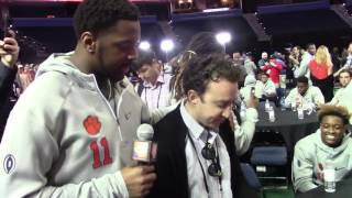 TigerNet.com - Shadell Bell interviews random media member