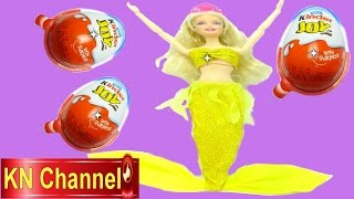 Đồ chơi trẻ em búp bê Barbie Tiên cá bóc trứng bất ngờ Kinder joy Surprise Egg Kids toy