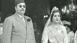 """فيديو نادر ..أستعراضات جوية يوم زفاف الملك فاروق من ناريمان """"ج1 """""""
