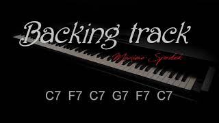 JAZZ BLUES IN C, MEDIUM SWING, BACKING TRACK, PIANO, SAX, JAZZ GUITAR, TRUMPET, KEYBOARDS