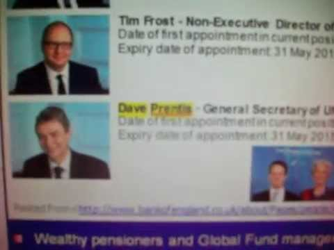 DAVE PRENTIS of UNISON runs the BANK OF ENGLAND and Freezes your pay