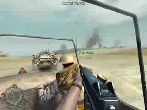 Call of Duty 2 gameplay BLOOD MOD!!!