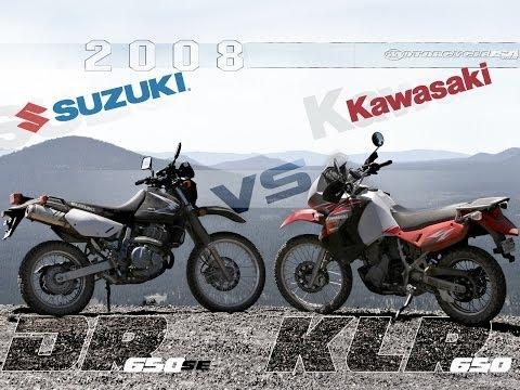 2008 Kawasaki KLR650 vs. Suzuki DR650SE Preview - MotoUSA