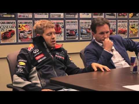 Sebastian Vettel & Christian Horner Interview - CAR and DRIVER