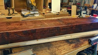 Building a Rustic Wood Mantle