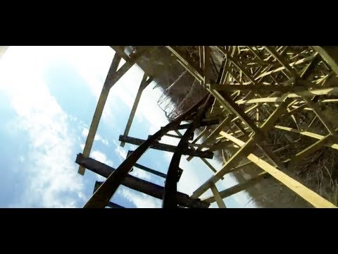 Outlaw Run Roller Coaster REAL POV Silver Dollar City Front Seat HD 1080p