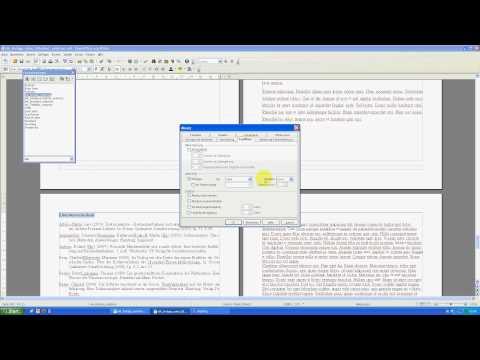 Hausarbeiten formatieren mit OpenOffice Teil 8 - Anhang mit neuer Seitennummerierung