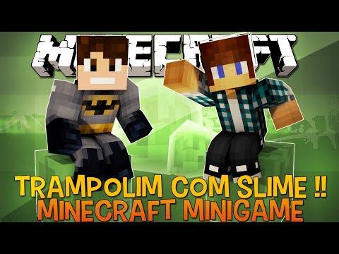 Trampolim De Slime !! - Minecraft 1.8 (NOVO) Parte1