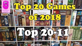 Top 20 Games of 2018 Part #1 top 20-11 (In English, board games, #top10games)