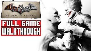 BATMAN RETURN TO ARKHAM CITY Gameplay Walkthrough Part 1 FULL GAME (Batman Arkham City Remastered)