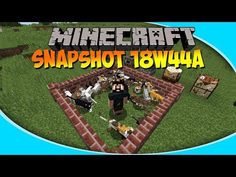 New Blocks, text and ALL THE CATS!! | Minecraft 1.14 Snapshot 18w44a