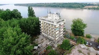 Abandoned Hotel - Sky View Drone Video