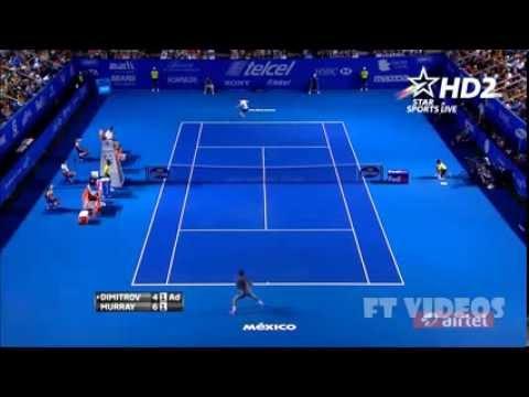HOTSHOT - Grigor Dimitrov x Andy Murray ATP 500 ACAPULCO 2014 HD
