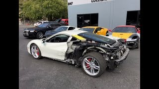 REBUILDING A WRECKED FERRARI 488 GTB FROM COPART PART 3