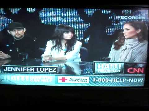 Jennifer Lopez, Nicole Richie & Joel Madden on Larry King Haiti Special (January 18) 2010