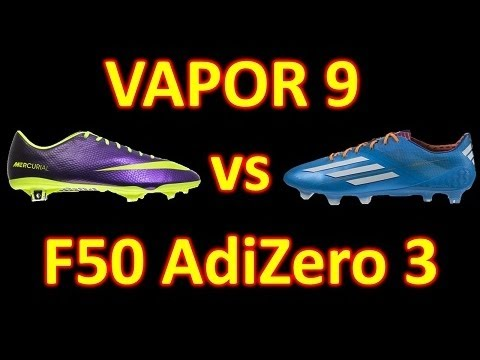 Nike Mercurial Vapor 9 VS Adidas F50 adizero miCoach 3 2014 - Comparison + Review