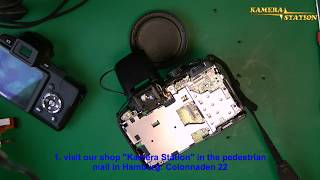 1N34 So baut man ein neues Nikon CoolPix P80 Display ein, lcd repair, Kamera station