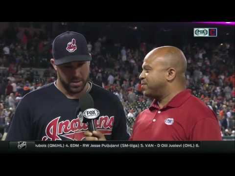 Rajai Davis, Jason Kipnis talk bizarre ending and big night for Cleveland Indians