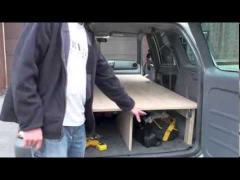 Building a sleeping platform in a 2001 RAV4 - YouTube
