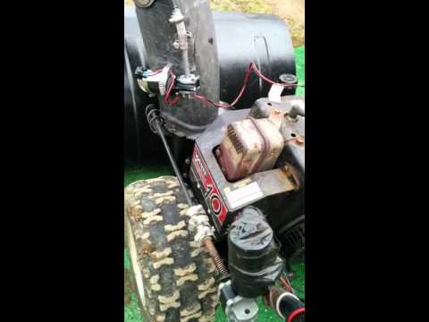 Snowblower electric chute control hack.