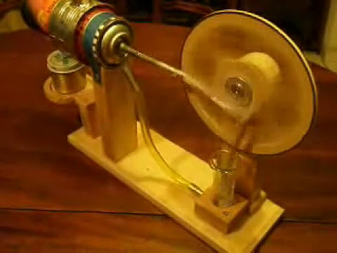 Motor Stirling hecho en casa - Desplazador horizontal