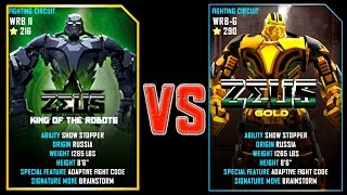 REAL STEEL WRB ZEUS (CHAMPION) (216) VS ZEUS GOLD (Champion) (290) New Robots UPDATE (Живая сталь)