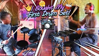 I Bought My First Drum Set Surprised My Kids With It And They Loved It!