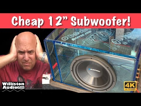 $20 Walmart Subwoofer Tested and Blown Up! [4K]
