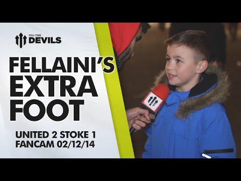 Fellaini's Extra Foot   Manchester United 2 Stoke City 1   FANCAM