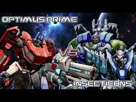 Insecticons Transformers Prime Optimus Prime vs Insecticons