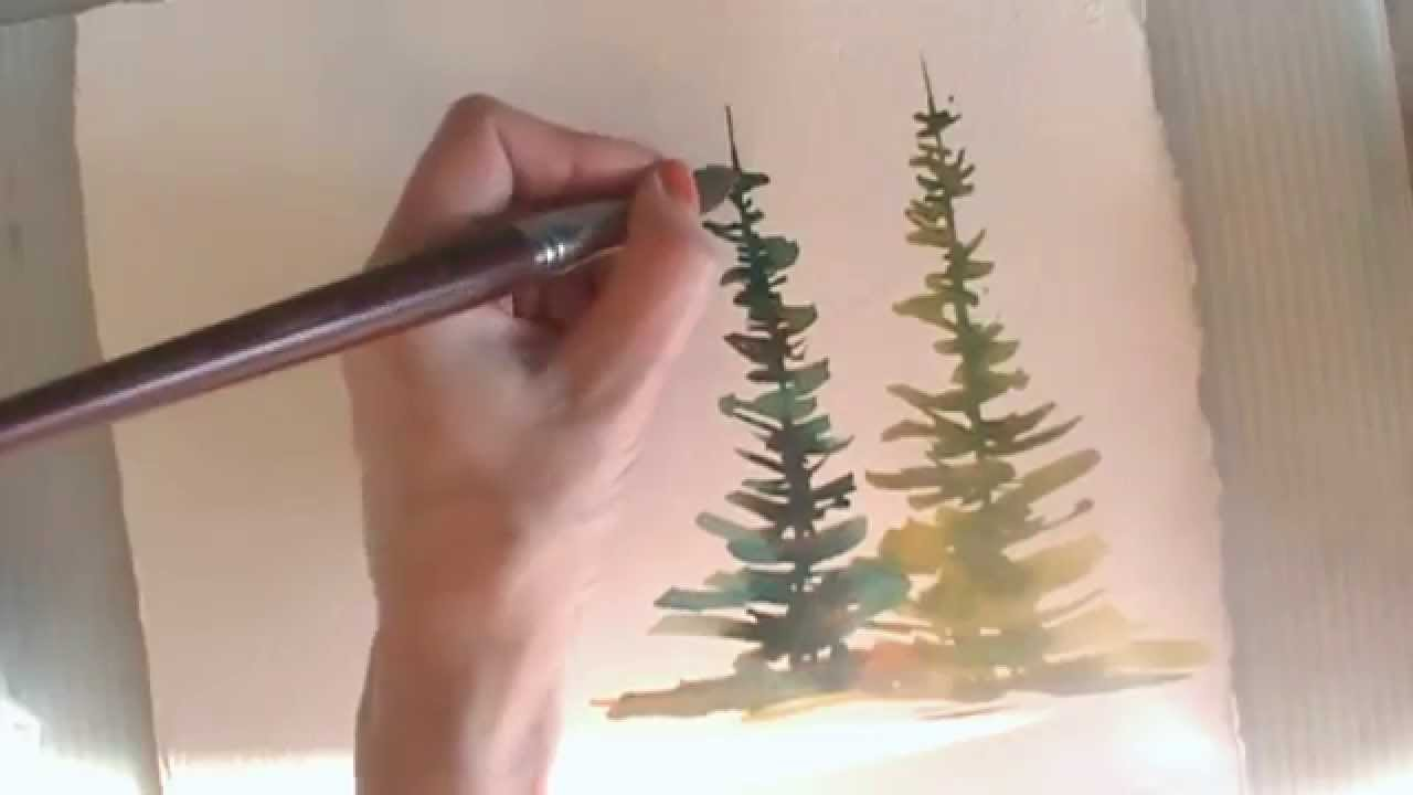 How to paint in watercolor summer spring trees youtube - Painting tips will make home come alive ...
