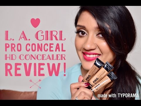 LA Girl Pro Conceal HD Concealer REVIEW (with Swatches)