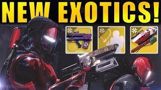 Destiny 2: NEW EXOTICS! Emotes, Sparrow, & Ornaments! | Crimson Days Loot