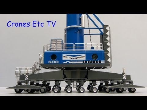 NZG Liebherr LHM 500 Mobile Harbour Crane 'Wallmann' by Cranes Etc TV