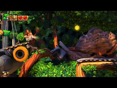 DKC Tropical Freeze - 1-4 Trunk Twister - All Puzzle and KONG