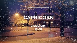 CAPRICORN JANUARY 15-31: THEY'RE NOT READY FOR YOU!!