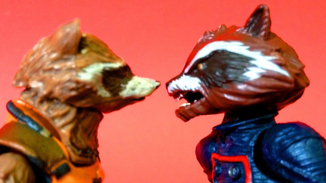 Drax The Destroyer Vs Venom: ROCKET RACCOON Movie Vs Comic Action Figure Comparison