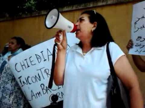 Manifestation Communauté Marocaine devant l'Ambassade du Maroc a Rome